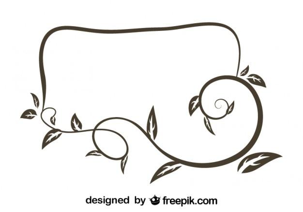 Marco floral de diseño retro irregular | Descargar Vectores gratis