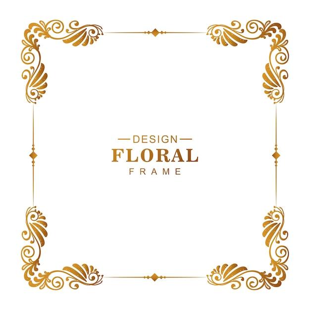 Marco floral decorativo ornamental vector gratuito