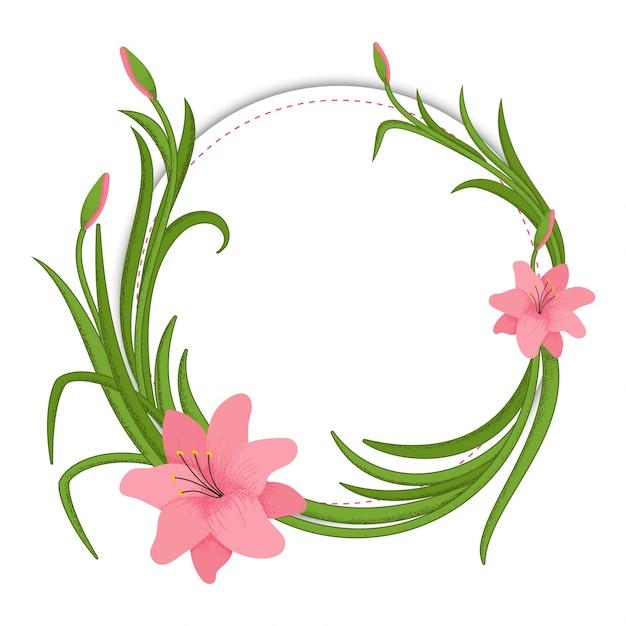 Marco floral, flores y hojas hechas por la acuarela. | Descargar ...