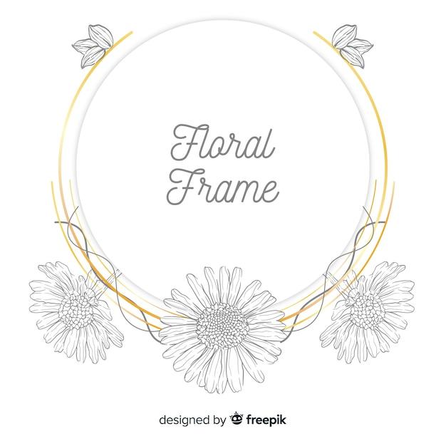 Marco floral vector gratuito