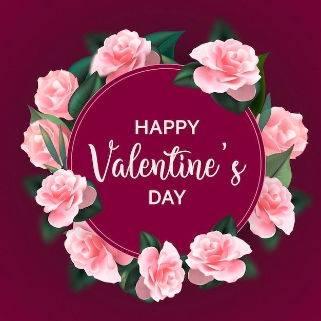 f5a8894b19151 Marco de flores para el día de san valentín