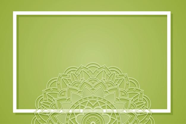 Marco de fondo con diseño de mandala vector gratuito