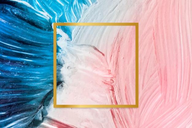 Marco de fondo de textura de pintura vector gratuito