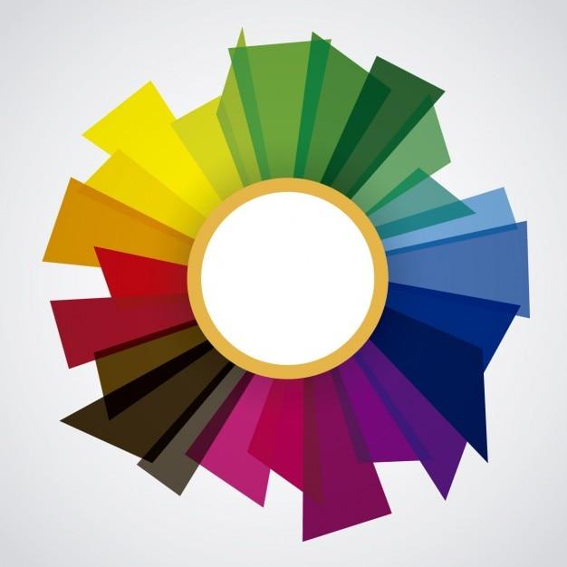 Marco con formas coloridas vector gratuito