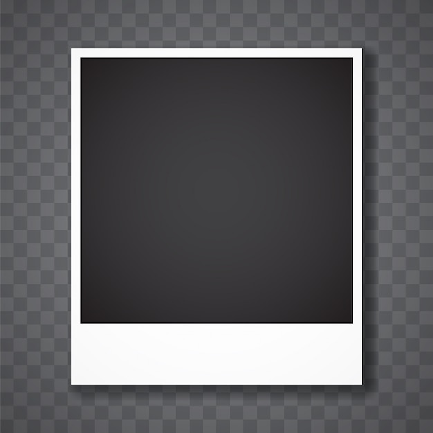 Marco de fotos con fondo transparente Vector Premium