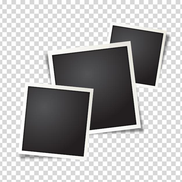 Marco de fotos polaroid vector gratuito