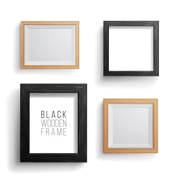 Marco de fotos realista Vector Premium