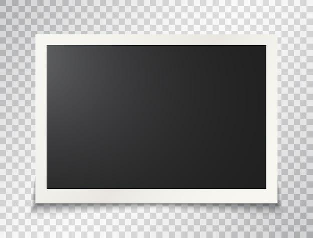 Marco de fotos sobre fondo transparente Vector Premium