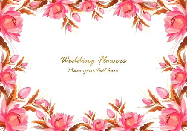 Marco hecho de fondo decorativo composición floral vector gratuito
