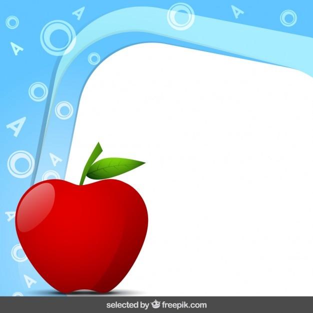 Marco con manzana | Descargar Vectores gratis
