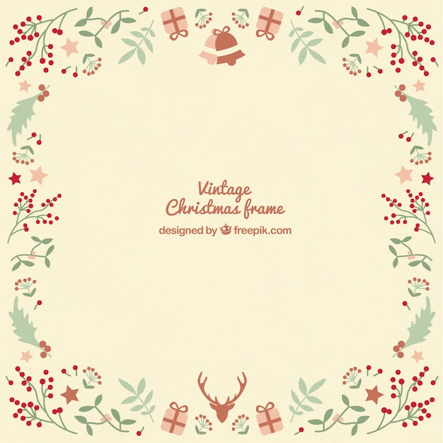 Marco De Navidad Vintage Descargar Vectores Gratis - Vintage-navidad