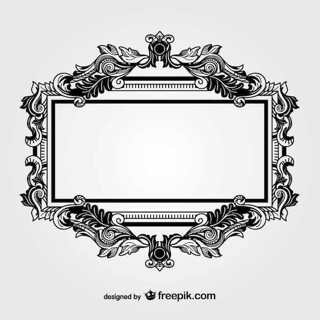 Marco negro ornamental | Descargar Vectores gratis