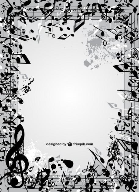 Marco De Notas Musicales Vector Gratis