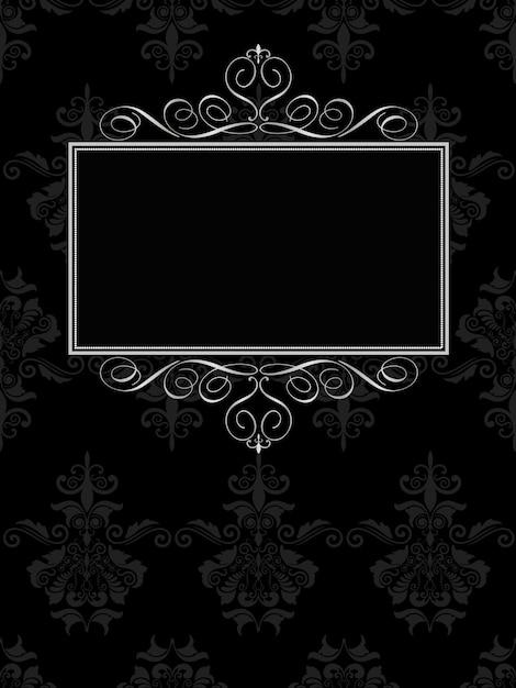 Marco ornamental en fondo negro | Descargar Vectores gratis
