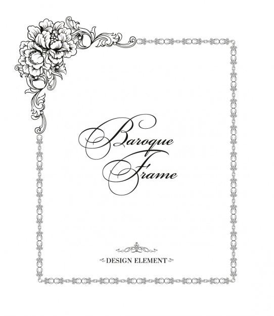 Marco ornamental floral en estilo barroco | Descargar Vectores gratis
