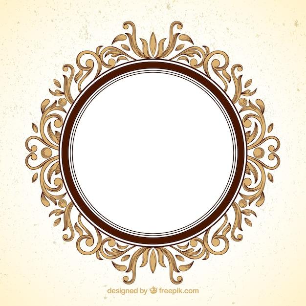 Marco redondo fotos y vectores gratis for Marcos para espejos redondos