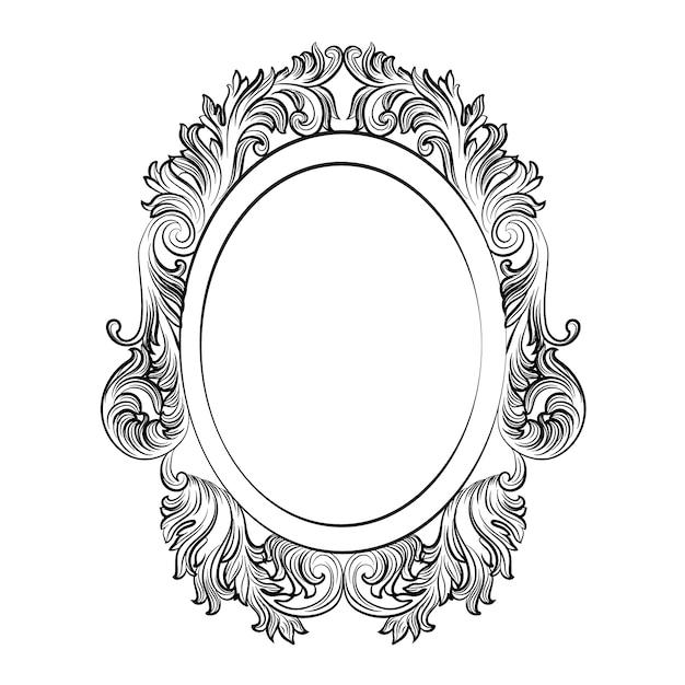 Marco ovalado decorativo | Descargar Vectores gratis