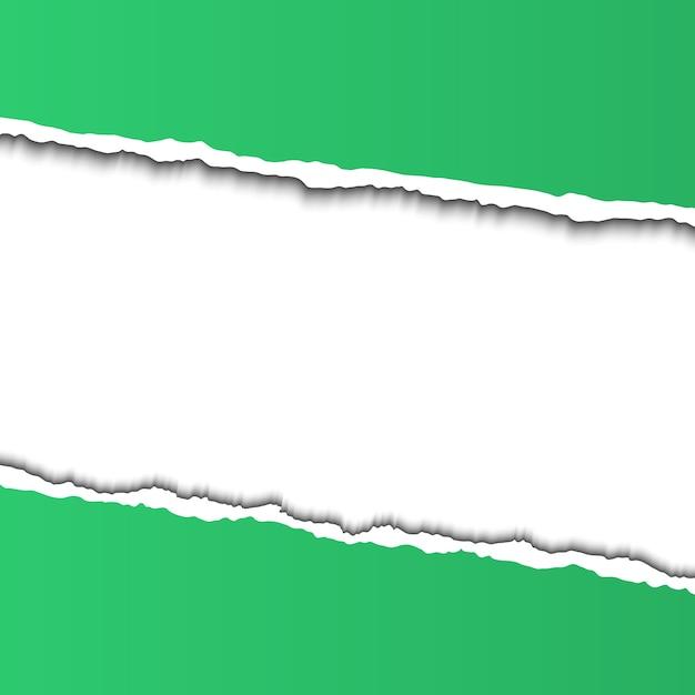 Marco de papel rasgado para texto Vector Premium