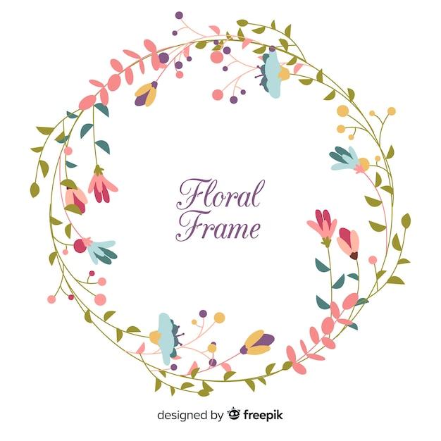 Marco primaveral de flores vector gratuito