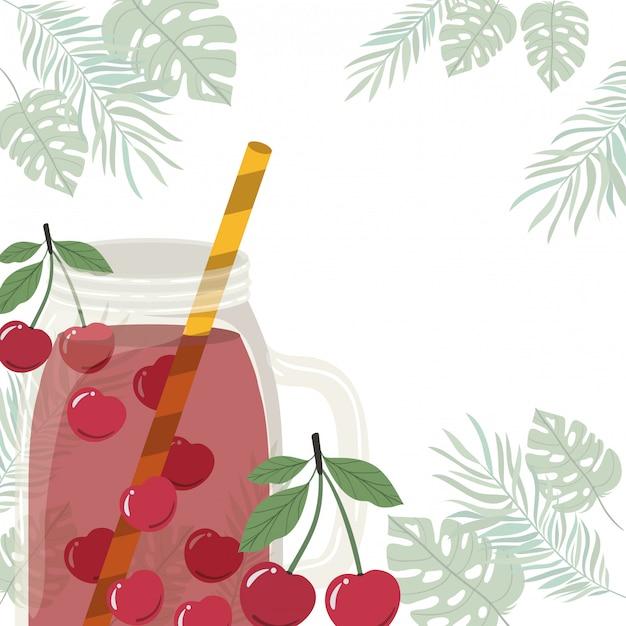 Marco de refrescante bebida para el verano. vector gratuito