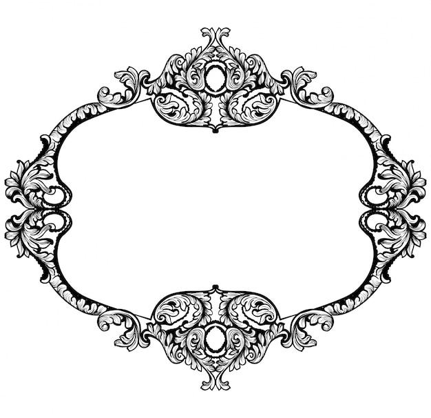 Marco rococó barroco vintage | Descargar Vectores Premium