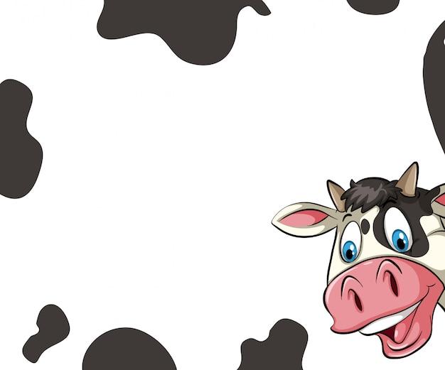 Marco de la vaca vector gratuito