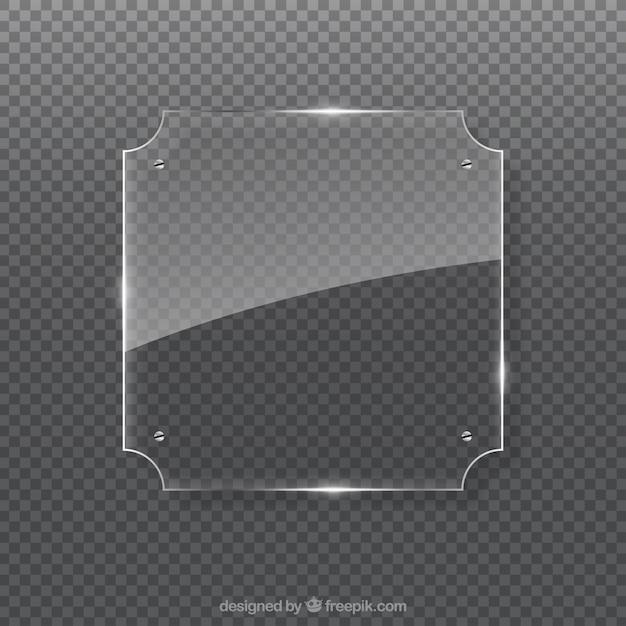 Marco de vidrio en estilo realista | Descargar Vectores gratis