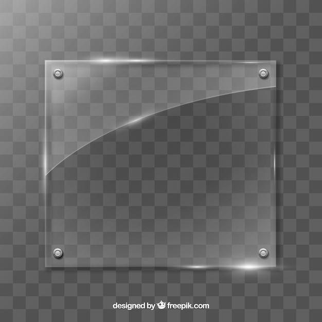 Marco de vidrio en estilo realista vector gratuito