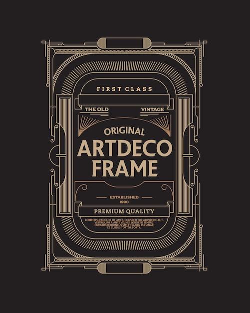 Marco vintage art deco Vector Premium