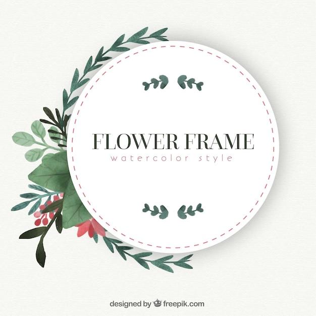 Marco vintage con flores de acuarela | Descargar Vectores gratis