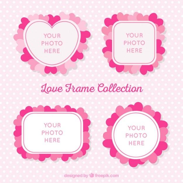 Marcos bonitos de fotos con corazones | Descargar Vectores gratis