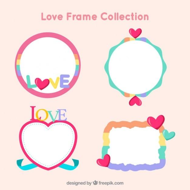 Marcos de amor divertidos | Descargar Vectores gratis