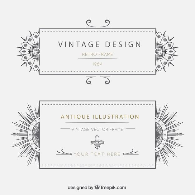 Marcos de diseño vintage | Descargar Vectores Premium