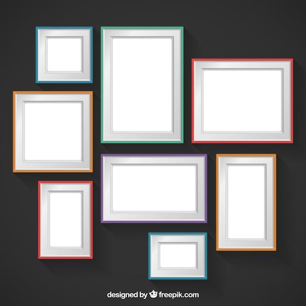 Marcos de la pared de colores descargar vectores gratis - Marcos para pared ...