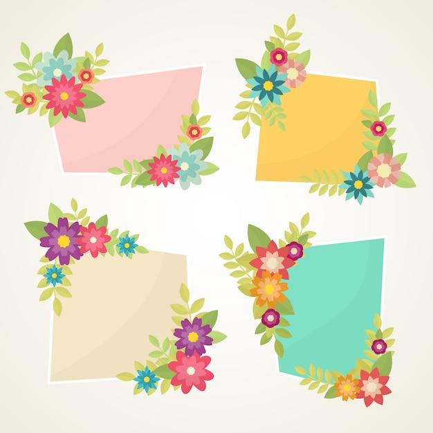 Marcos decorativos con flores descargar vectores premium - Marcos decorativos ...