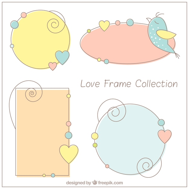 Marcos decorativos de amor dibujados a mano descargar - Marcos decorativos ...