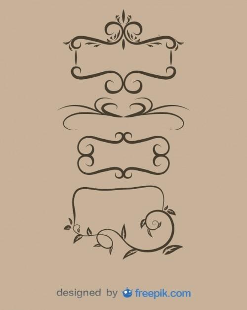 Marcos ornamentales serie antigua descargar vectores gratis - Marco foto antigua ...