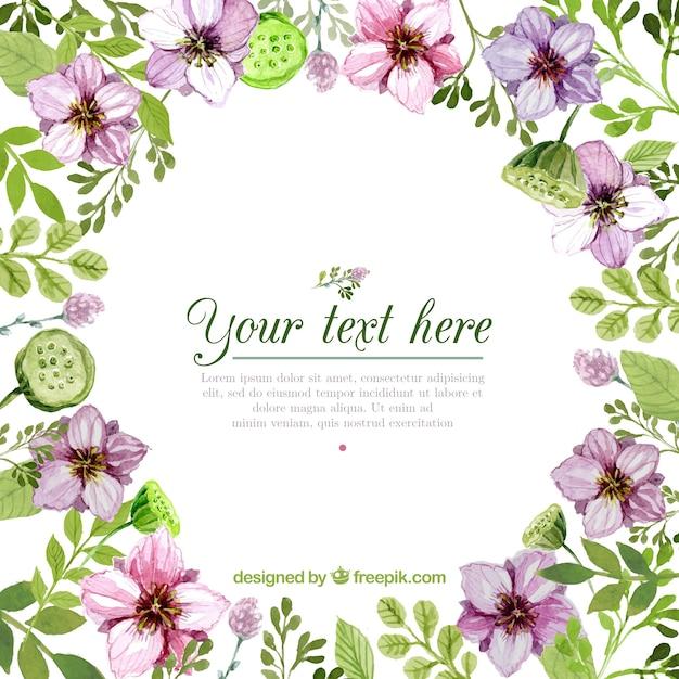 Marcos redondo floral | Descargar Vectores gratis