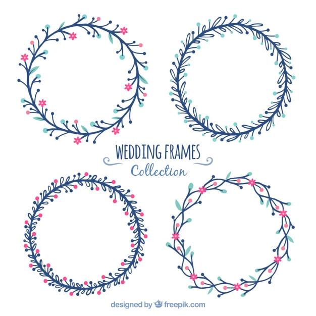 Marcos redondos de boda en dise o plano descargar - Marcos redondos para cuadros ...