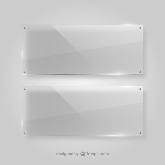 Marcos transparentes de cristal vector gratuito