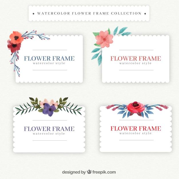 Marcos vintage con flores de acuarela | Descargar Vectores gratis