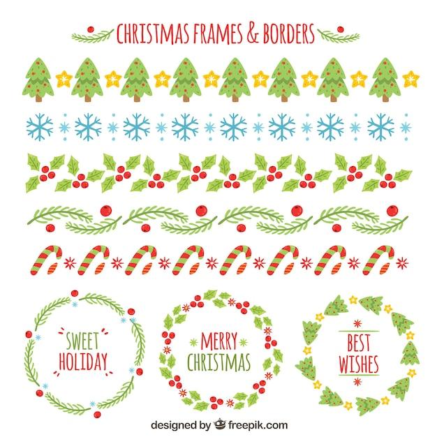 Marcos y bordes creativos y flat de navidad descargar for Bordes creativos