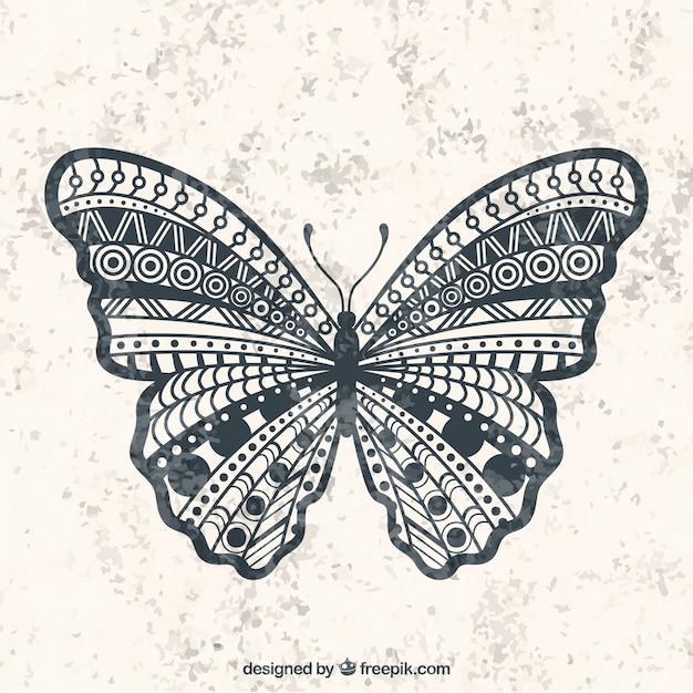 Mariposa geométrica | Descargar Vectores gratis