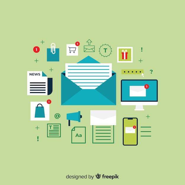 Marketing por correo vector gratuito