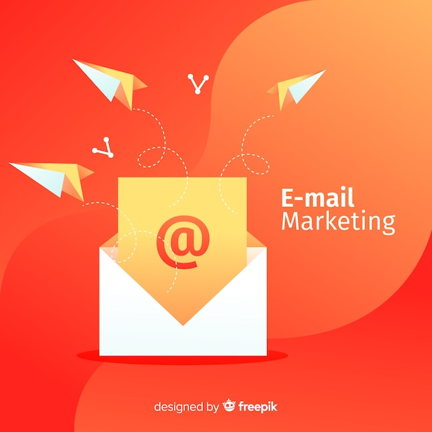 Marketing por correo vector gratuito