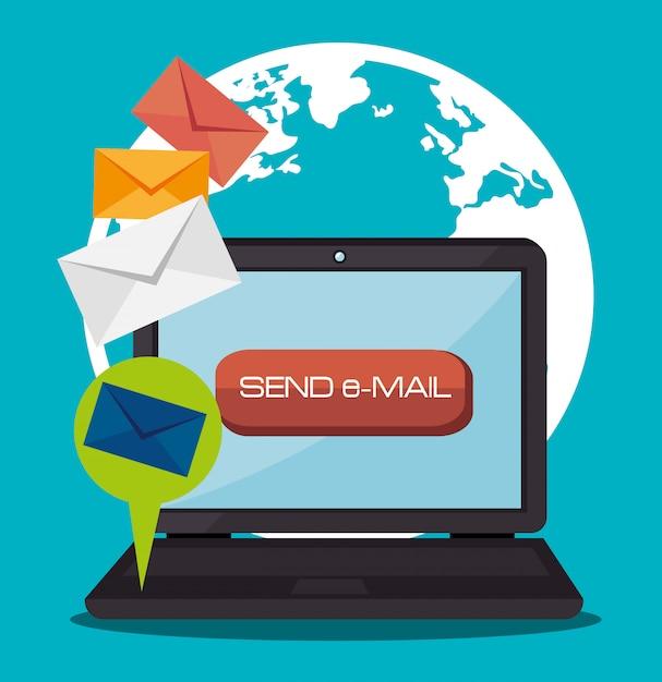 Marketing digital y ventas en línea. vector gratuito