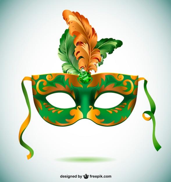 Máscara carnaval de Brasil Vector Gratis