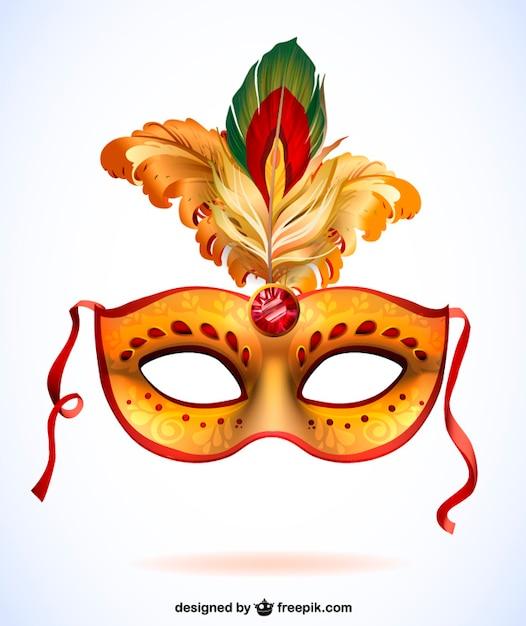 Máscara de carnaval con plumas. vector formato .ai vector gratuito