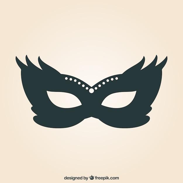Máscara de carnaval vector gratuito