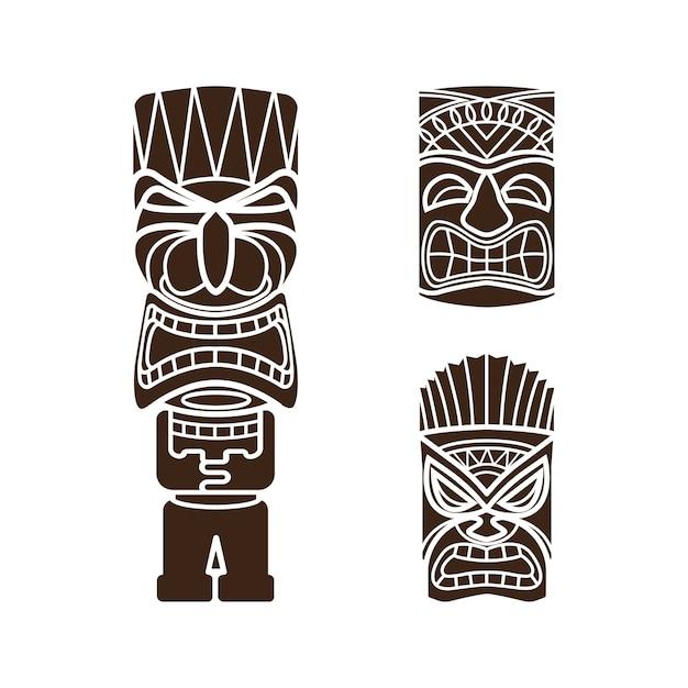 M scaras hawaianas de la estatua del dios tiki descargar for Tiki hawaiano
